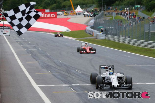 Felipe Massa subió al podio del Gran Premio de Austria este año - LaF1