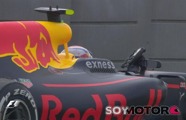 Max Verstappen en el momento de su retirada en Austin - LaF1