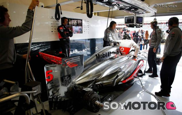 Jenson Button en Silverstone