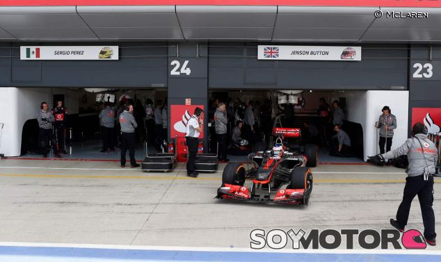 Jenson Button y su MP4-28 en Silverstone