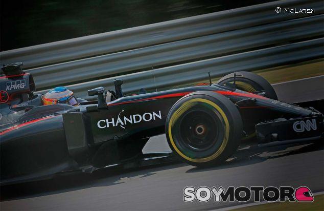 Así lucirá el logotipo de Chandon en los coches de McLaren a partir de 2016 - LaF1