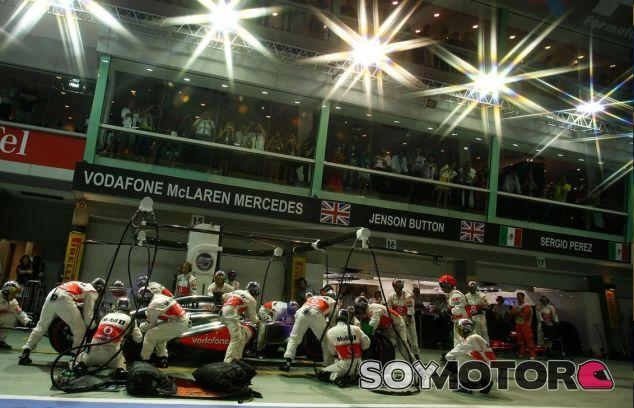 Tanto Button como Pérez puntuaron en Singapur - LaF1