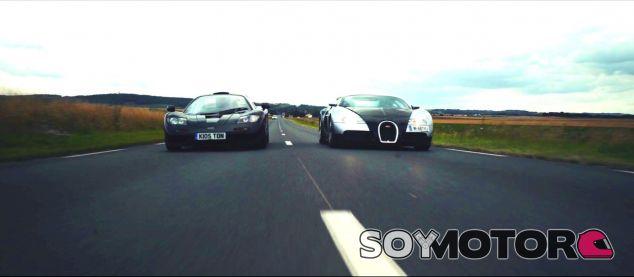 El McLaren F1 y el Bugatti Veyron en acción - SoyMotor.com