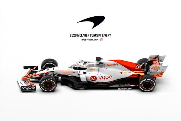¿Y si el McLaren MCL35 fuera blanco? - SoyMotor.com