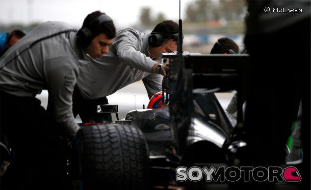 Jenson Button durante los test de Jerez - LaF1