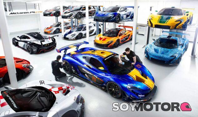 Este garaje que todo fan de McLaren le gustaría tener en propiedad - SoyMotor