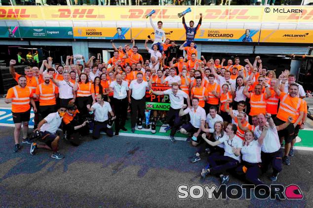 McLaren hizo récord de puntos en la Fórmula 1 durante el GP de Italia - SoyMotor.com