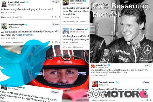 El paddock de la F1 se vuelca con Michael Schumacher