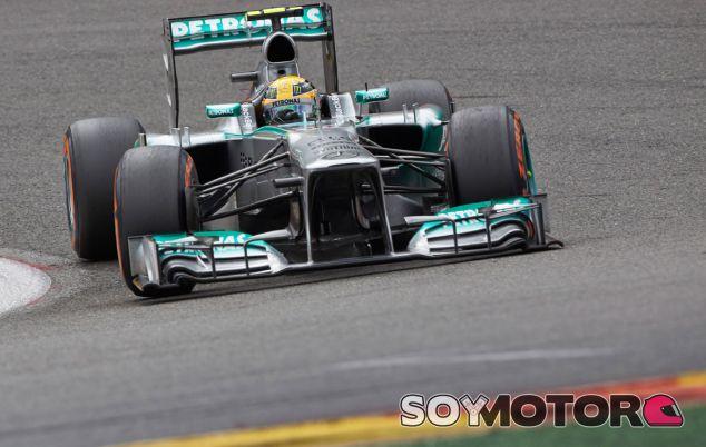 Lewis Hamilton en el pasado Gran Premio de Bélgica