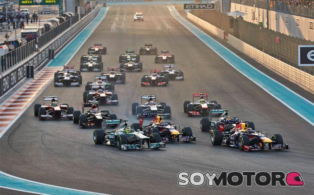 Salida del Gran Premio de Abu Dabi 2013 - LaF1