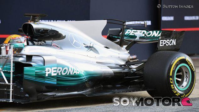 Mercedes W08 en los test de Barcelona - SoyMotor