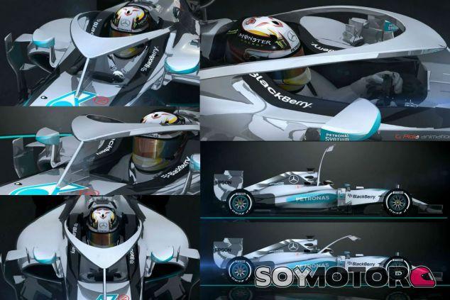 Así es el concepto que Mercedes ha presentado ante la FIA y el Grupo Técnico de Trabajo - LaF1