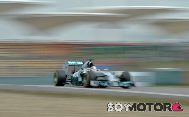 Lewis Hamilton, hoy en Shanghái - LaF1