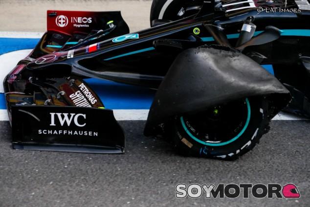 Monoplaza de Valtteri Bottas tras el GP de Gran Bretaña 2020 - SoyMotor.com