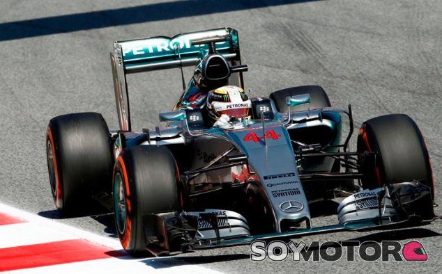 Lewis Hamilton, hoy en Barcelona - LaF1