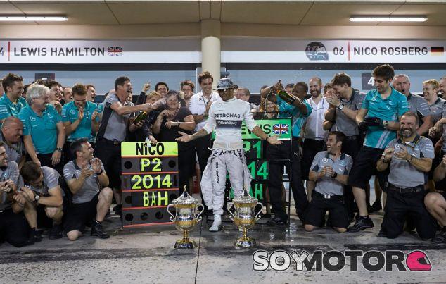 Mercedes en el GP de Baréin F1 2014: Domingo