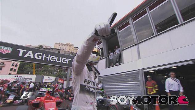 Lewis Hamilton tras conseguir la Pole de Mónaco - LaF1