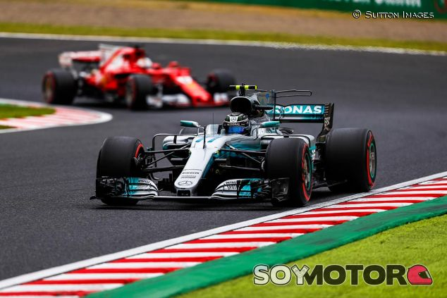Valtteri Bottas y Sebastian Vettel en Suzuka - SoyMotor