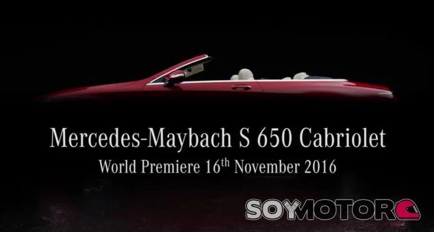 El estreno del Mercedes-Maybach S 650 Cabriolet tendrá lugar el 16 de noviembre - SoyMotor