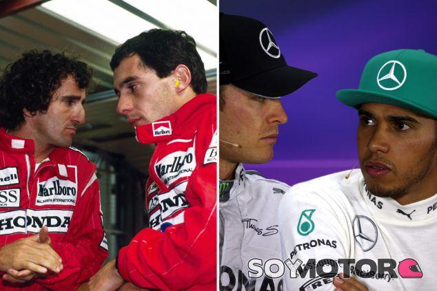 Hamilton admite que su rivalidad con Rosberg se parece a la de Senna con Prost