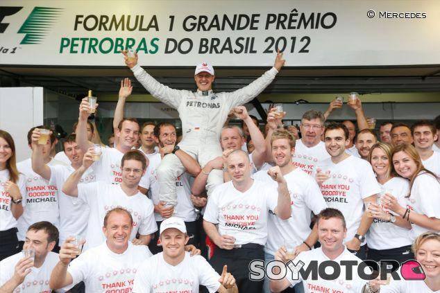 Michael Schumacher en su último Gran Premio como piloto de Fórmula 1 - LaF1