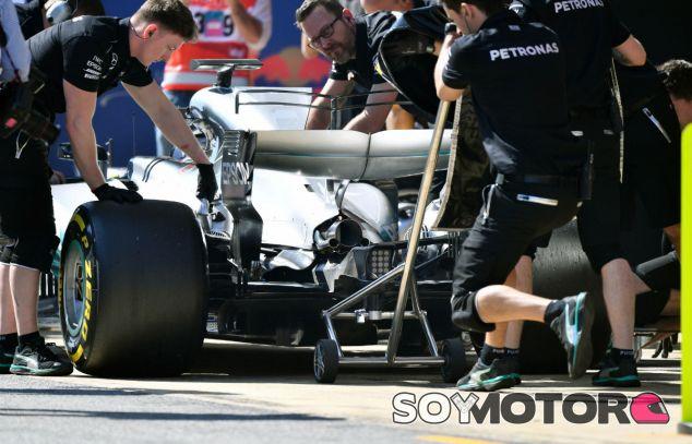 F1 por la mañana: Mercedes no pudo ir a tope en los tests - SoyMotor