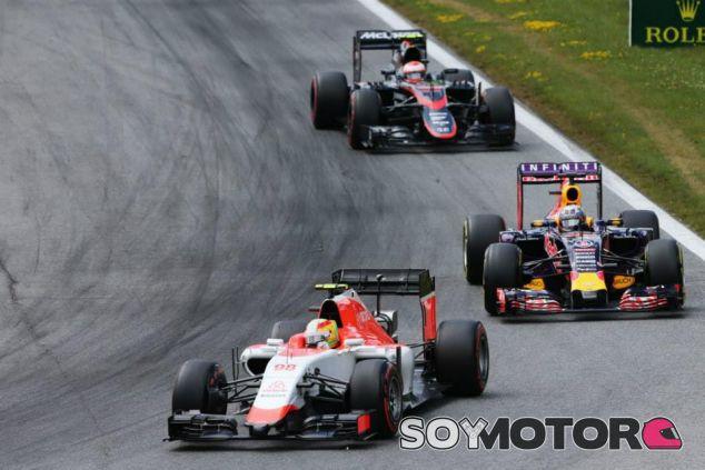 Roberto Merhi ha empezado la carrera por delante de Daniel Ricciardo y los McLaren - LaF1