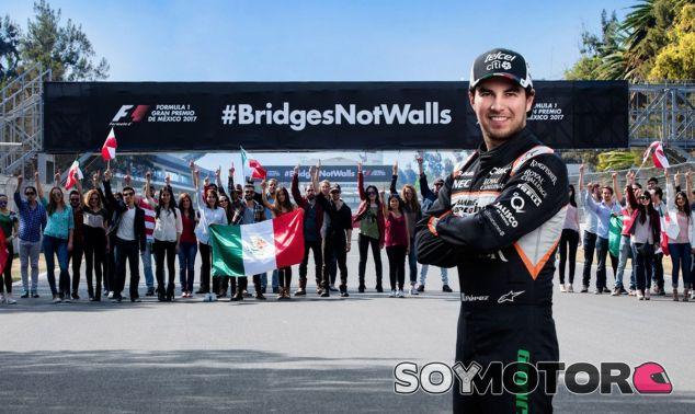 Pérez apoya la campaña anti-Trump #BridgesNotWalls - SoyMotor.com