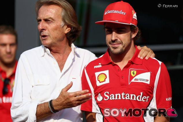 Montezemolo y Alonso durante su etapa compartida en Ferrari - LaF1
