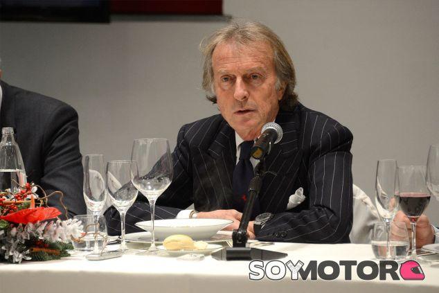 Luca di Montezemolo durante la comida con los periodistas - LaF1