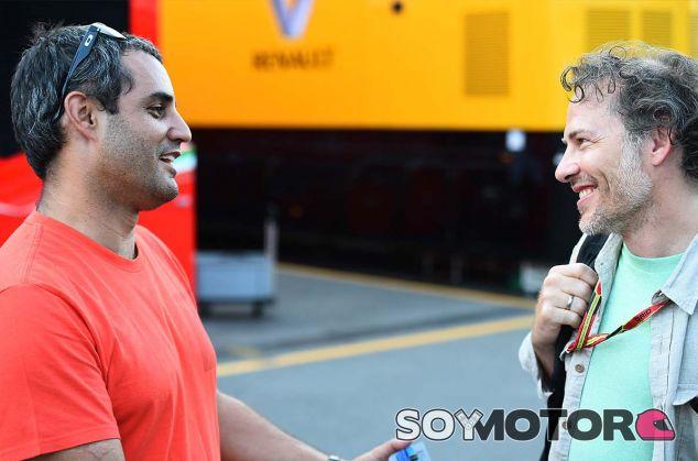 Juan Pablo Montoya y Jacques Villeneuve en Monza - SoyMotor.com