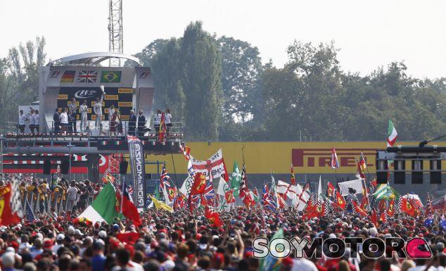 El podio de Monza en 2014 - LaF1.es