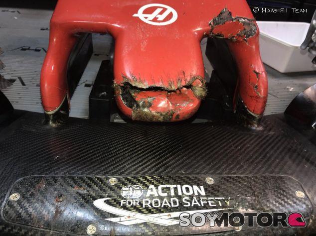 Así quedó el alerón delantero de Romain Grosjean en Canadá – SoyMotor.com