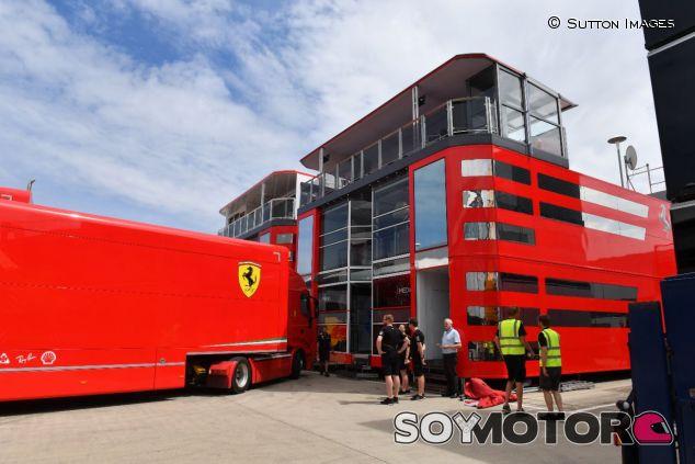 El motorhome de Ferrari en Silverstone –SoyMotor.com
