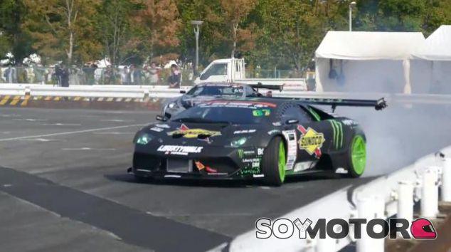 El primer y único Lamborghini Murciélago de drift en acción.