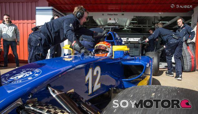 Felipe Nasr en el C34 de Sauber - LaF1.es