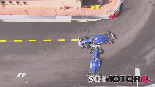 Felipe Nasr y Marcus Ericsson tras su incidente en la Rascasse - LaF1