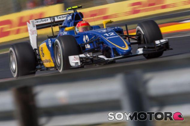 Felipe Nasr con el C34 en Hungría - LaF1