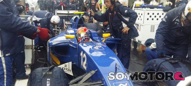 Nasr, instantes antes de arrancar el GP de Brasil - LaF1