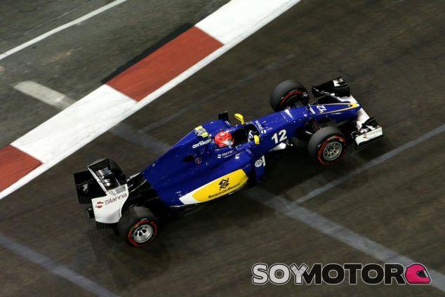 Felipe Nasr con el C34 en el circuito de Marina Bay - LaF1