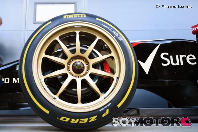 Primer test de los neumáticos de 18 pulgadas en un F1 - SoyMotor.com