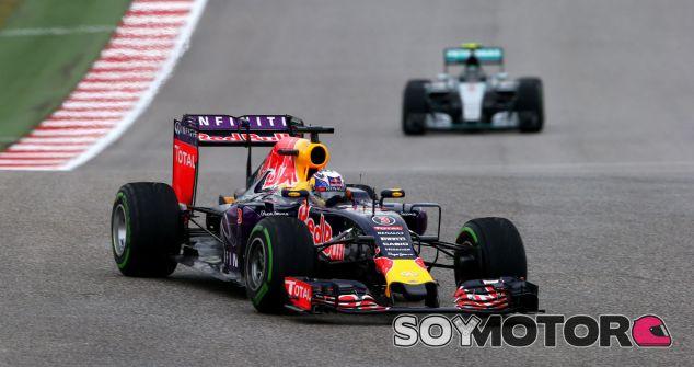 Daniel Ricciardo y Nico Rosberg en el Gran Premio de los Estados Unidos - LaF1