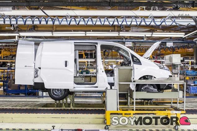Nissan e-NV200 en la fábrica de Zona Franca, en una imagen de archivo de 2008 -