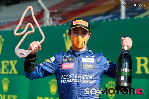 Lando Norris celebra en Austria - SoyMotor.com