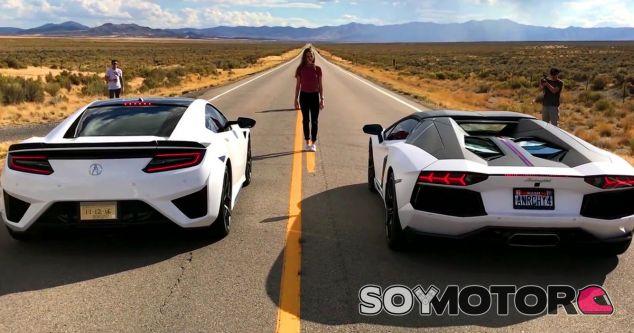 El Acura NSX y el Lamborghini Aventador Pirelli Edition frente a frente - SoyMotor