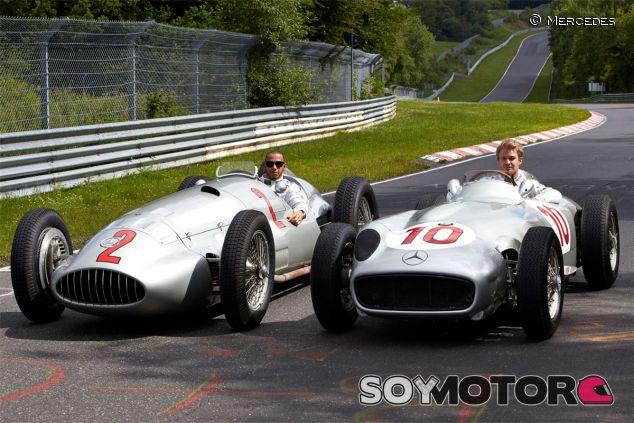 Lewis Hamilton y Nico Rosberg en el Nordschleife - LaF1