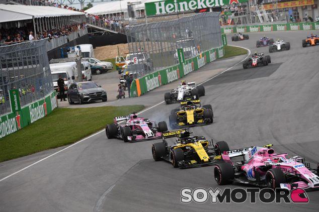 Los Force India y los Renault en Montreal - SoyMotor.com