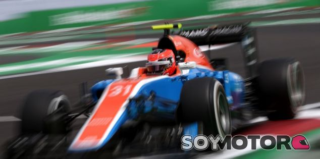 Ocon, durante la carrera en el GP de México - LaF1