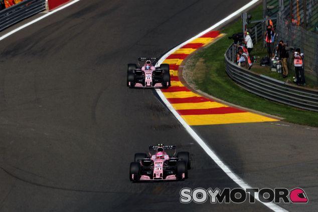 Ocon y Pérez en Spa - SoyMotor.com