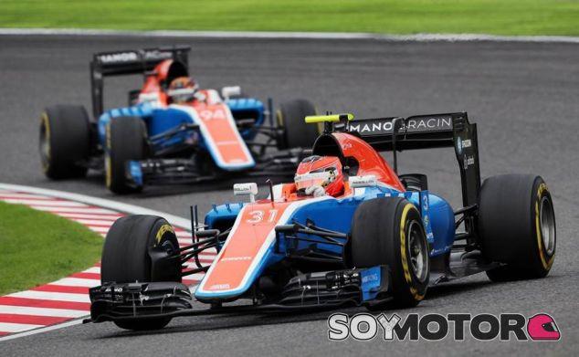 Ocon y Wehrlein, durante el GP de Japón - LaF1